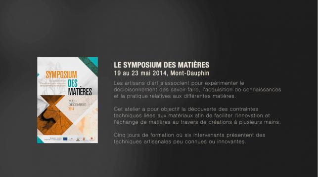 Symposium des matières